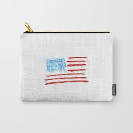 Flag of Usa Chalk version- america,us,united states,american,spangled,star and strips Carry-All Pouch