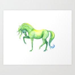 Emerald Horse Art Print