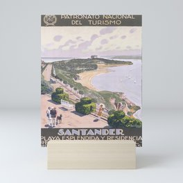 Affiche santander. circa 1930  Mini Art Print