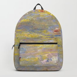 Monet, Water-Lilies (yellow) after 1920-1926 Backpack