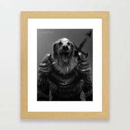 Lord Pup of Caninia Framed Art Print