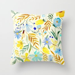 SUMMERTIME FLORAL Throw Pillow