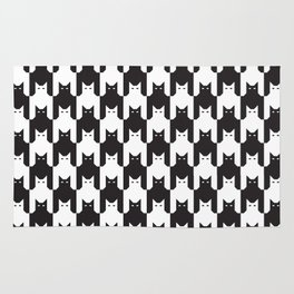 Cats Dog Tooth Pattern Rug