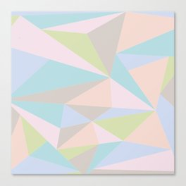 Pastel Triangles Canvas Print