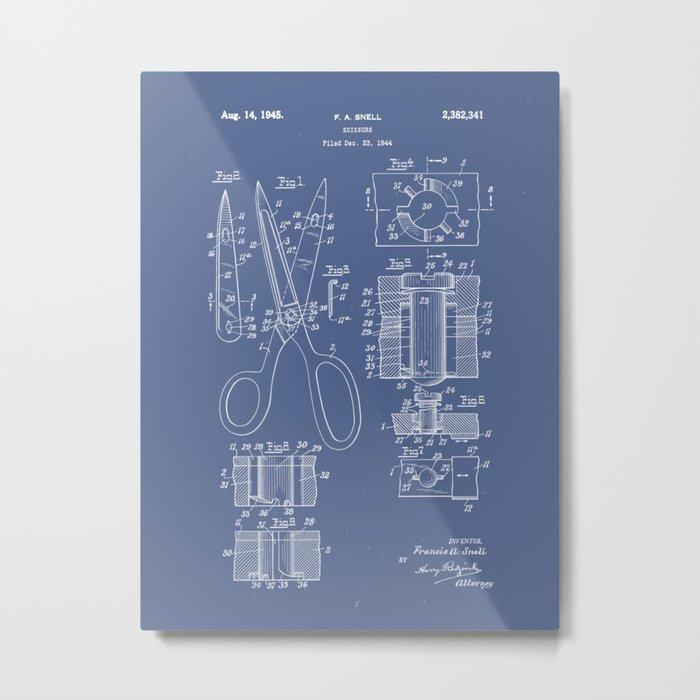 Patent Art - Scissors Breakout Exploded-view Metal Print