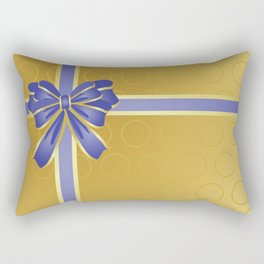 Gift wrapped in blue and gold Rectangular Pillow