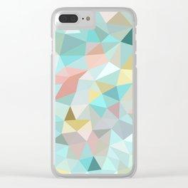 Pastel Tris Clear iPhone Case