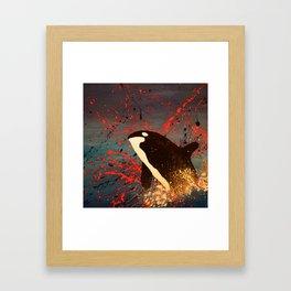 Whale Outbreak Framed Art Print
