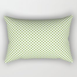 Greenery Polka Dots Rectangular Pillow