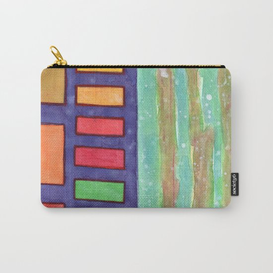 Building with colorful Windows Carry-All Pouch