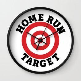 Home Run Target Wall Clock