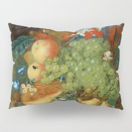 "Jan van Os  ""Fruit still life with a mouse on a ledge"" Pillow Sham"
