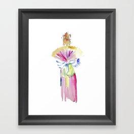 Fan Dancer Framed Art Print