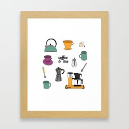 Coffee & Tea Framed Art Print