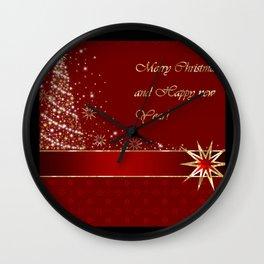 Merry Christmas greeting Wall Clock