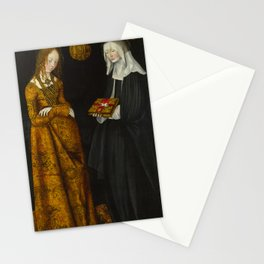 "Lucas Cranach the Elder ""Saints Christina and Ottilia"" Stationery Cards"