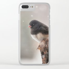 Winter Birds - Junco Clear iPhone Case