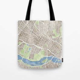 Richmond Virginia City Map Tote Bag