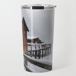 Lago di Braies, Italy. Travel Mug