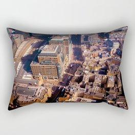 Aerial Cityscape (Color) Rectangular Pillow