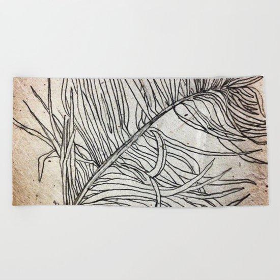 Palm Flower on Earth Day Beach Towel