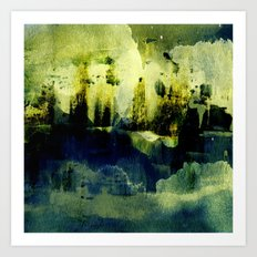abstract landscape with light Art Print