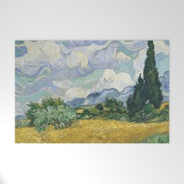 Wheat Field with Cypresses by Vincent van Gogh Welcome Mat