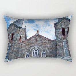 Church and Clouds Rectangular Pillow