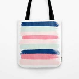 Painted stripes trendy color palette minimal striped decor nursery home Tote Bag