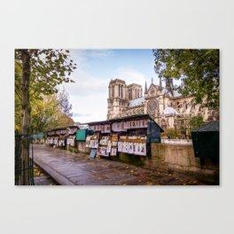 Book-sellers in Paris Canvas Print