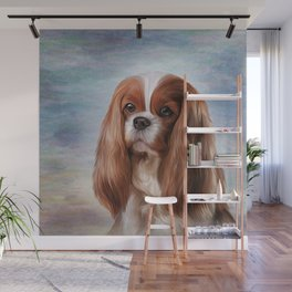 Drawing Dog breed Cavalier King Charles Spaniel Wall Mural