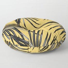 Black Palm Leaves Dream #6 #tropical #decor #art #society6 Floor Pillow