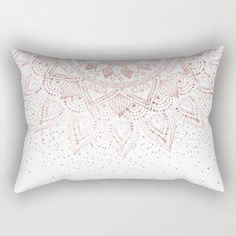 Elegant rose gold mandala confetti design Rectangular Pillow