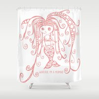 whatever Shower Curtains featuring Whatever. by I'm Knot Tangled