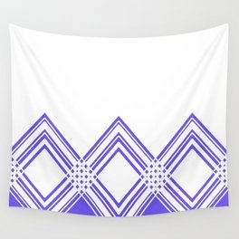 Abstract geometric pattern - blue and white. Wall Tapestry