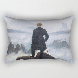 Caspar David Friedrich, Wanderer above the sea of fog, 1818 Rectangular Pillow