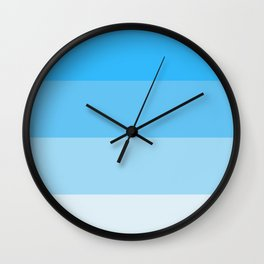 Blue Ombre Coloured Wall Clock