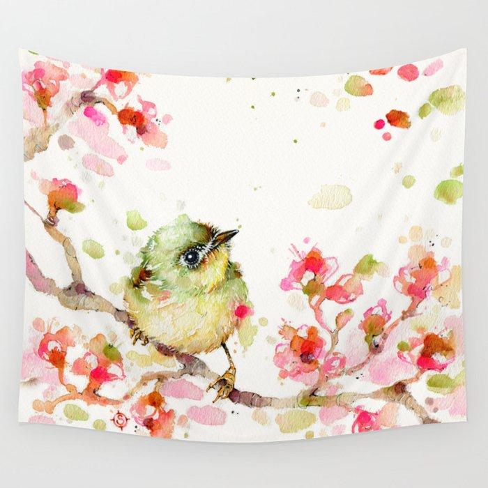 Mr Fluffy Pants (bird) Wall Tapestry