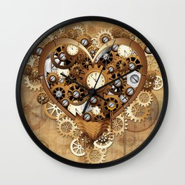 Steampunk Heart Love Wall Clock