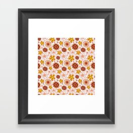 Organic Medallions -Burnt Orange Framed Art Print