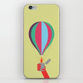 rock air balloon iPhone Skin