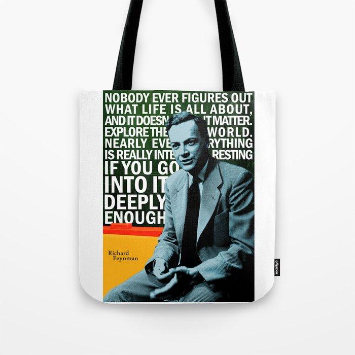 Richard Feynman Quote 1 Tote Bag