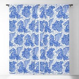 Pegasus Pattern Blue Blackout Curtain