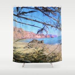Nerja Beach, Spain Shower Curtain