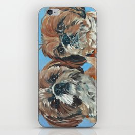 Shih Tzu Buddies Dog Portrait iPhone Skin