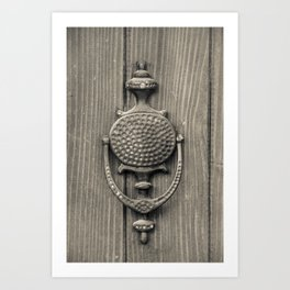Knocker Art Print