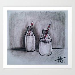 Milk for Two Art Print