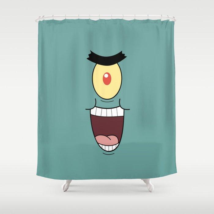 PLANKTON SPONGEBOB Shower Curtain by september9 | Society6