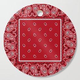 Classic Red Bandana Cutting Board