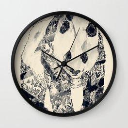 Tattooed Panda {cream} Wall Clock